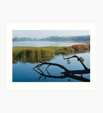 Morning at river Kolomak Art Print