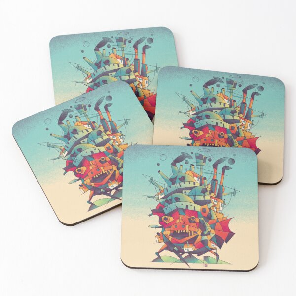 Moving Castle Coasters (Set of 4)