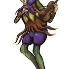 Jester with violin by Matt Corrigan