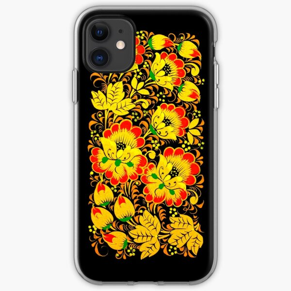 Floral ethnic print iPhone Soft Case