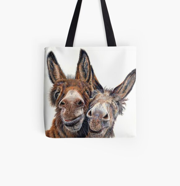 Donkeys - Hee Haw All Over Print Tote Bag