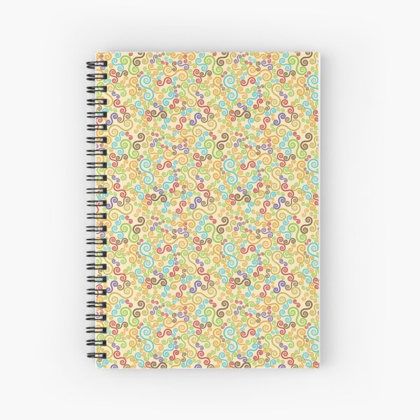 Multicolour curve lines Spiral Notebook