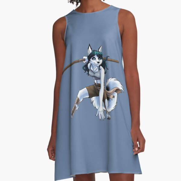 Disguised Fox - Filaire as an Arctic Fox A-Line Dress