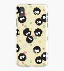 Ghibli Inspired Soot Sprites with Candy Pattern iPhone Case