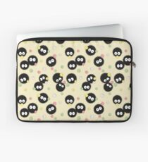 Ghibli Inspired Soot Sprites with Candy Pattern Laptop Sleeve