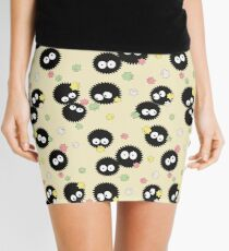 Ghibli Inspired Soot Sprites with Candy Pattern Mini Skirt