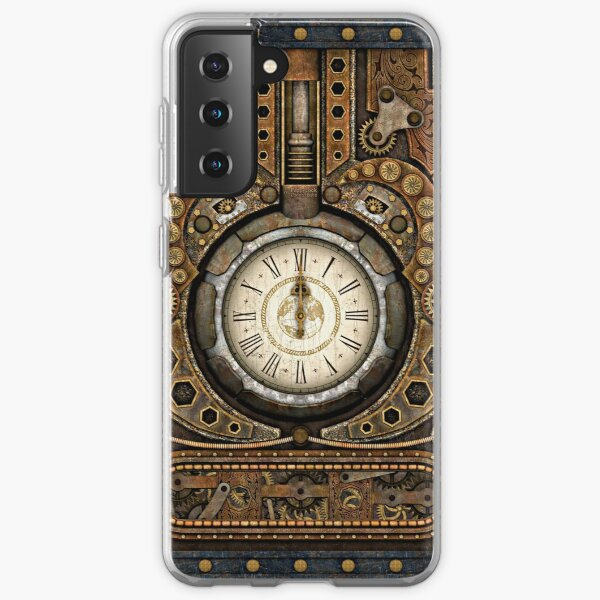 Steampunk Vintage Time Machine Samsung Galaxy Soft Case