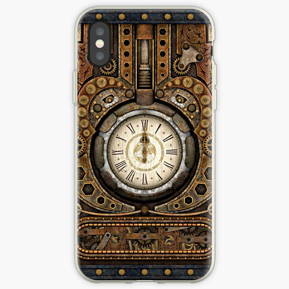 Steampunk Vintage Time Machine iPhone Cases & Covers