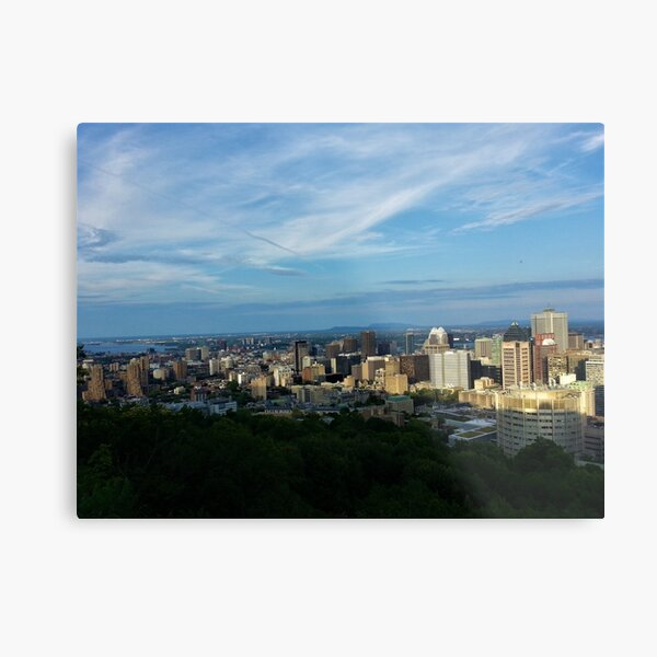 North Downtown Montreal from Mount Royal Metal Print