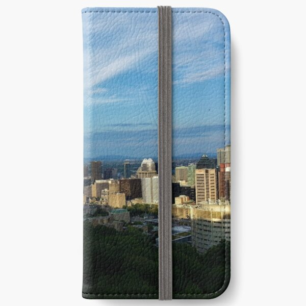 North Downtown Montreal from Mount Royal iPhone Wallet