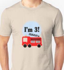 3rd birthday fire truck geek funny nerd T-Shirt