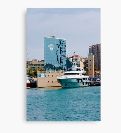 Port De Haboour Barcelona  Canvas Print