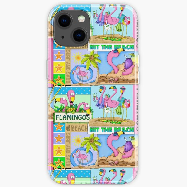 Flamingo Beach Party iPhone Soft Case