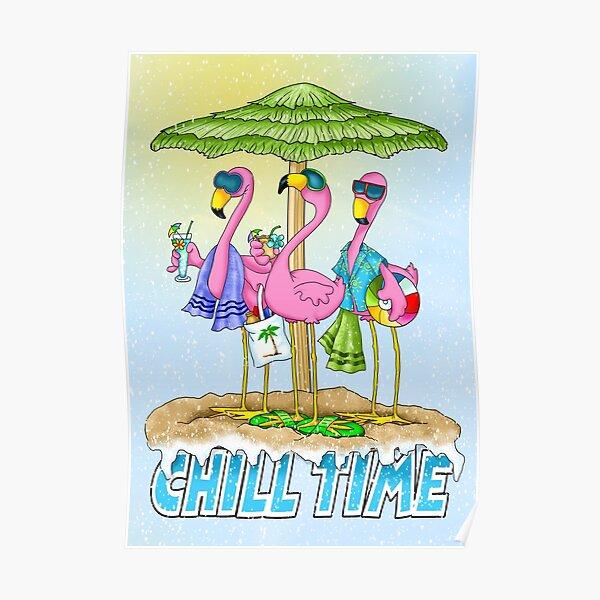 Flamingo Beach Party Poster