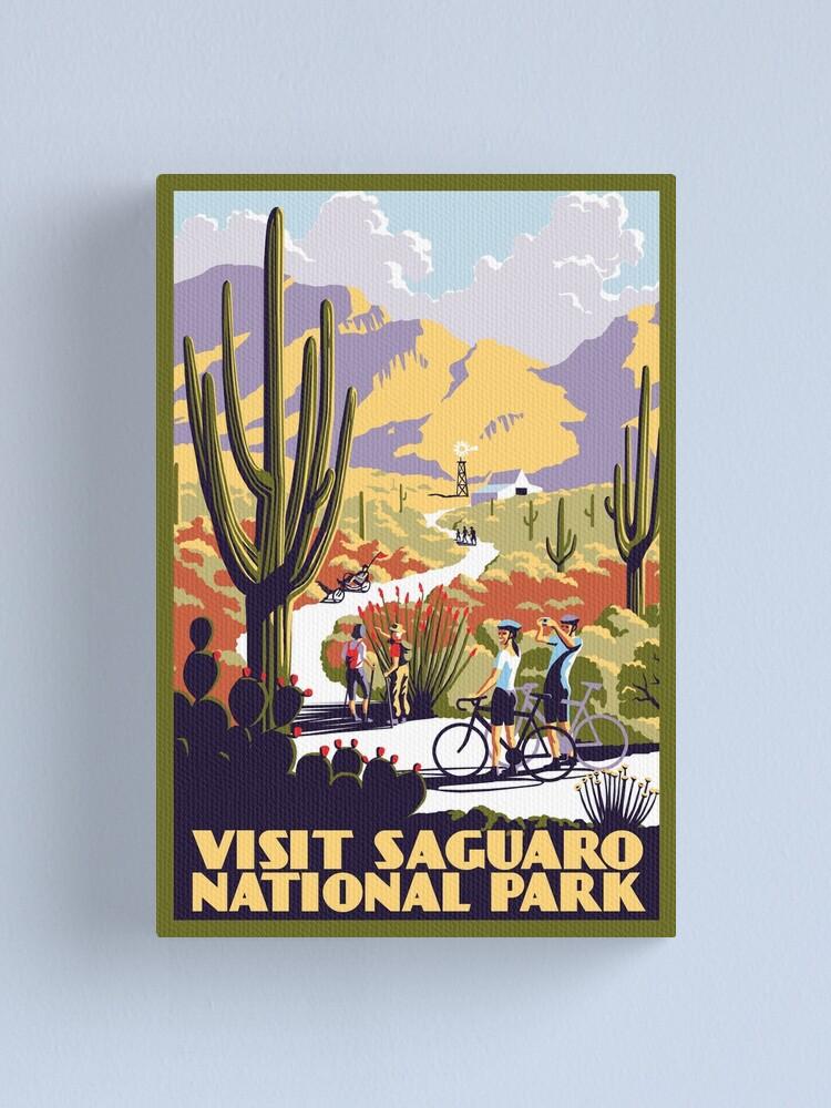 Alternate view of Visit Saguaro National Park Canvas Print