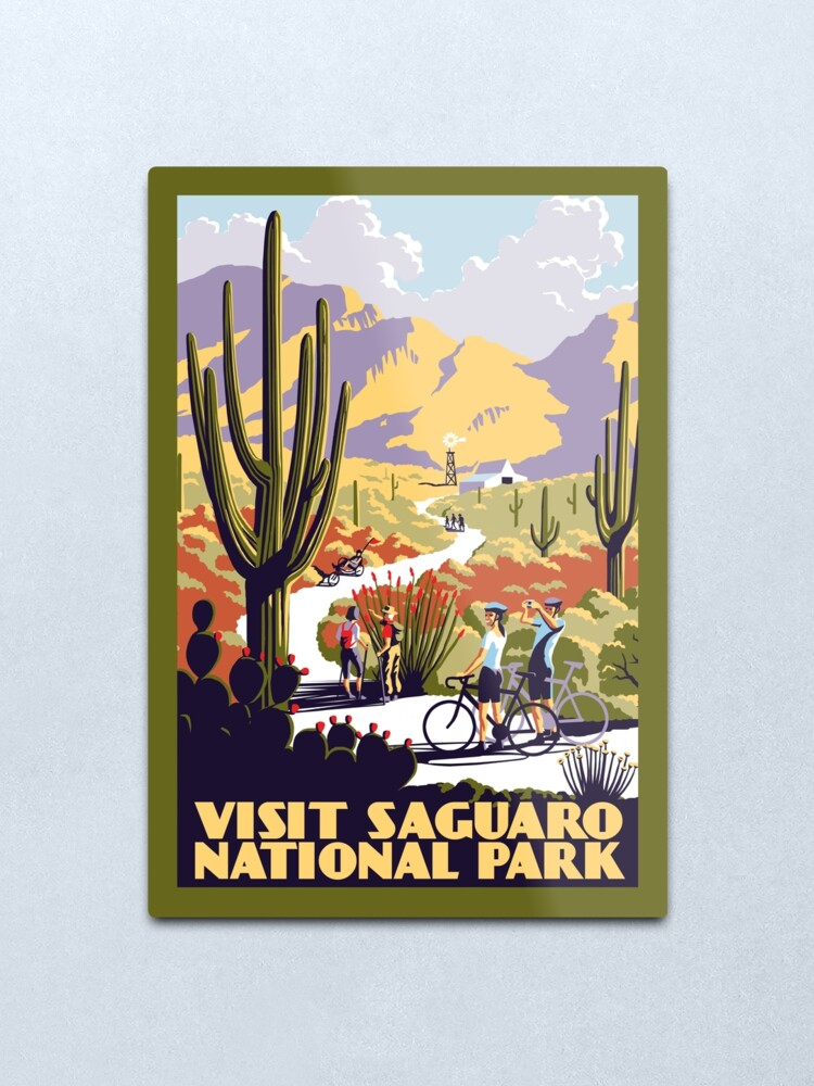 Alternate view of Visit Saguaro National Park Metal Print
