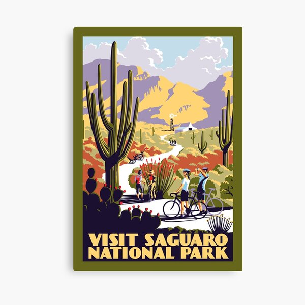Visit Saguaro National Park Canvas Print