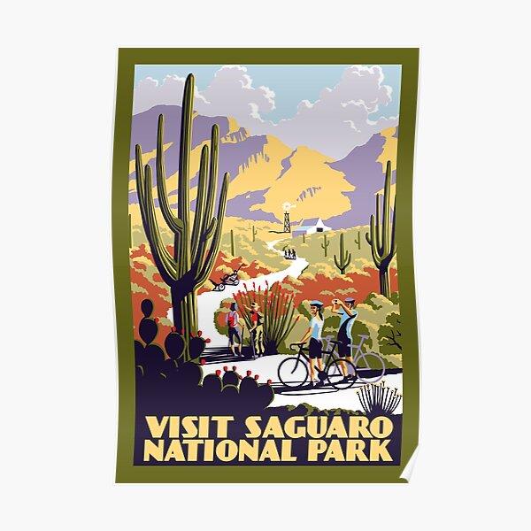 Visita el Parque Nacional Saguaro Póster