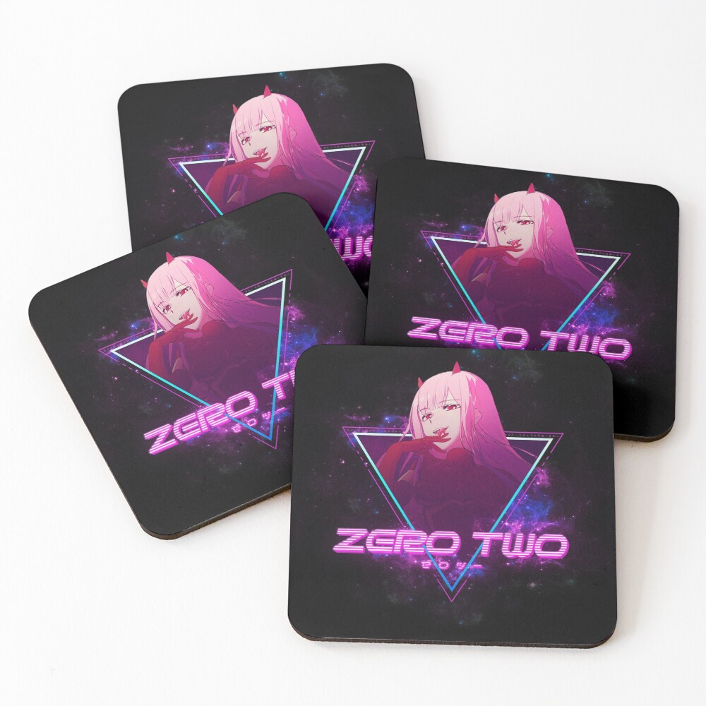 Darling in the Franxx (Zero Two 002 Aesthetic) Coasters (Set of 4)