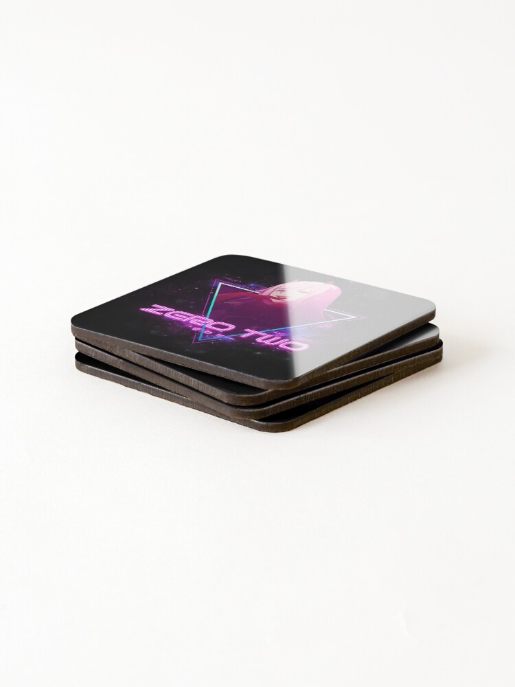 Alternate view of Darling in the Franxx (Zero Two 002 Aesthetic) Coasters (Set of 4)