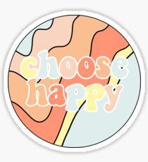 choose happy Sticker