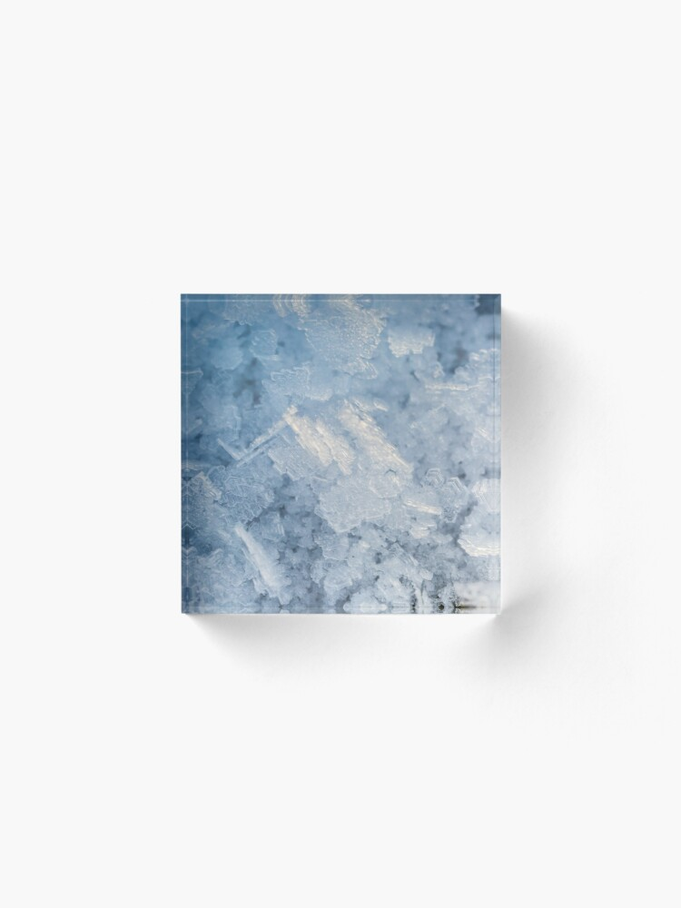 Alternate view of Ice crystals Acrylic Block