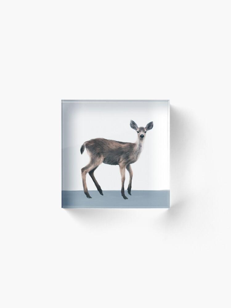 Alternate view of Deer on Slate Blue Acrylic Block