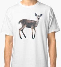 Deer on Slate Blue Classic T-Shirt