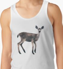 Deer on Slate Blue Tank Top