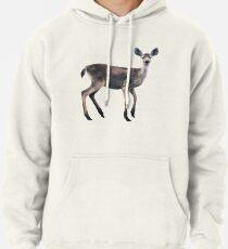 Deer on Slate Blue Pullover Hoodie