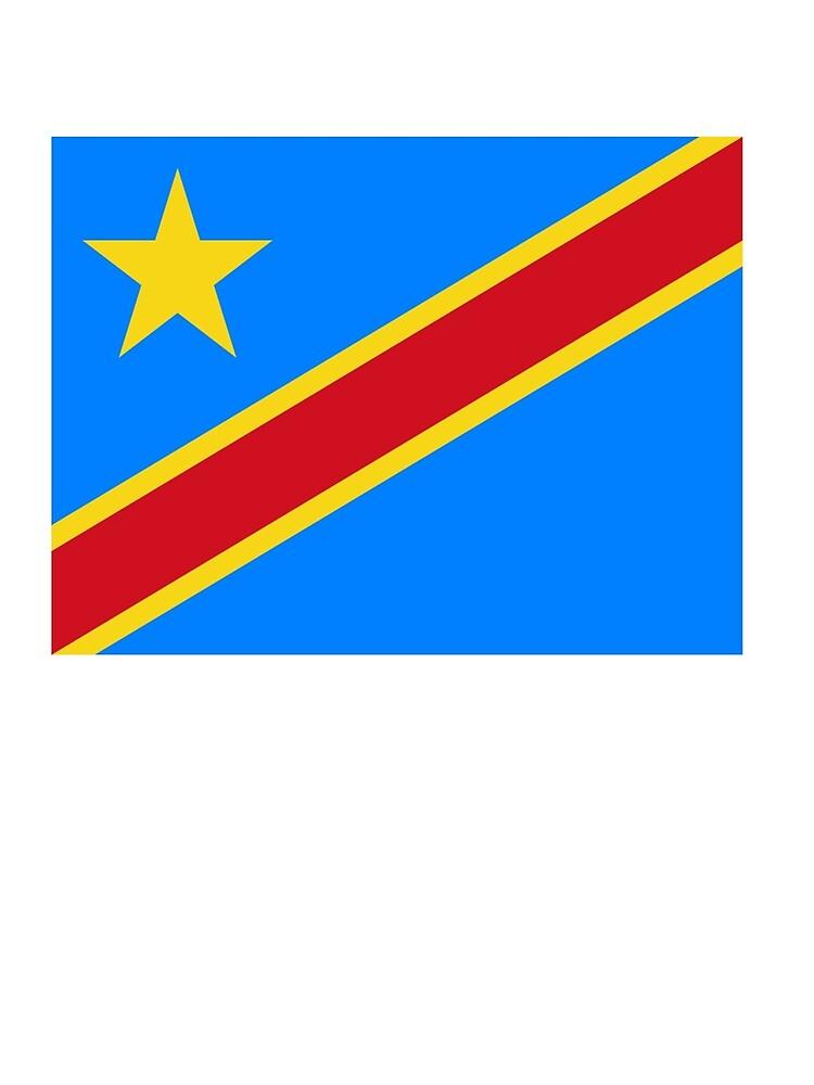 Postal Congo Africano Bandera Congoleño áfrica República Democrática Del Congo De Tomsredbubble Redbubble