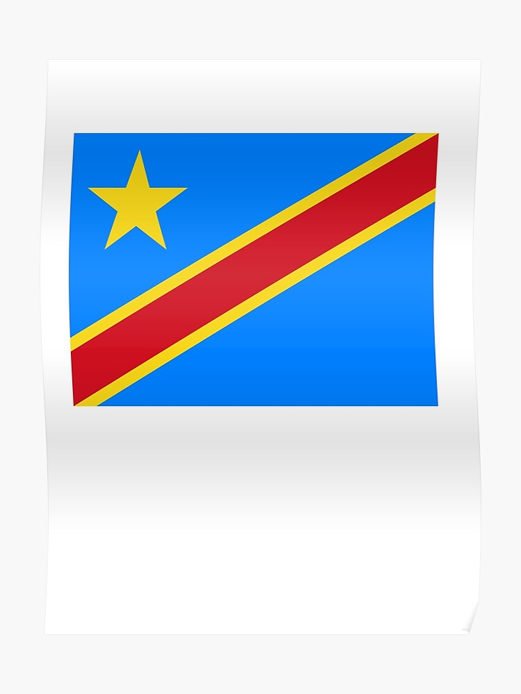 CONGO, African, Flag, Congolese, Africa, Democratic Republic of the Congo |  Poster