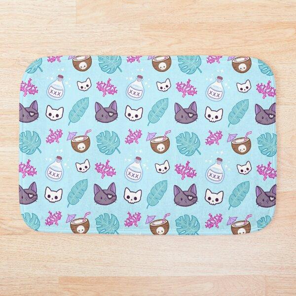 Pirate Cat // Turquoise   Nikury Bath Mat