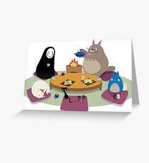 Tarjeta de felicitación Studio Ghibli Tea Time