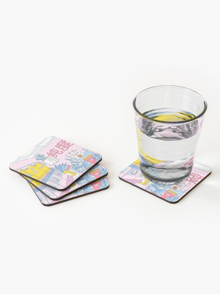 Alternate view of MANEKI WASH BLUE Coasters (Set of 4)