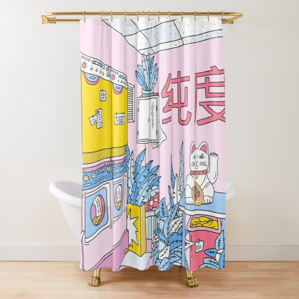 MANEKI WASH BLUE Shower Curtain