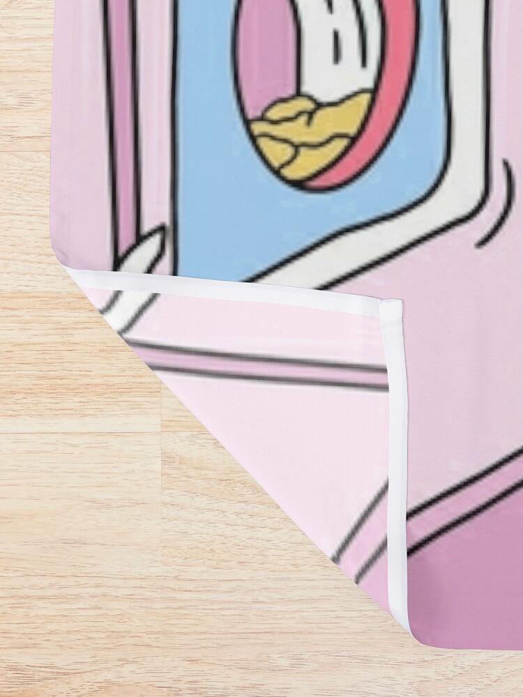 Alternate view of MANEKI WASH BLUE Shower Curtain