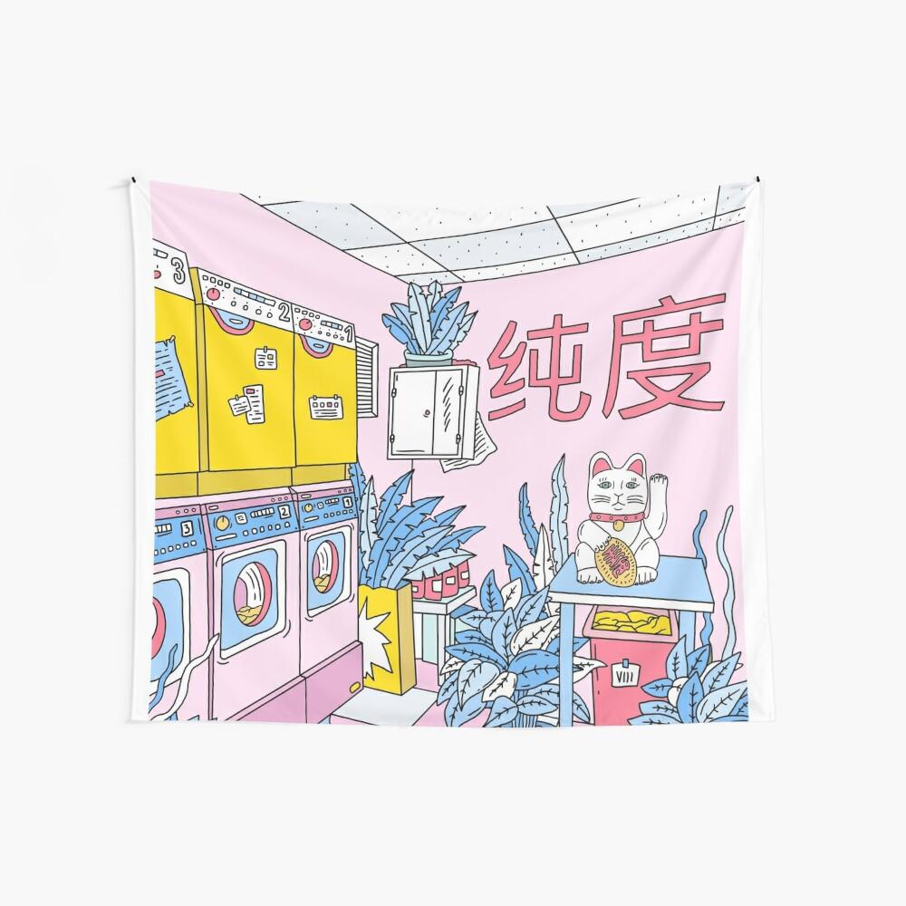MANEKI WASH BLUE Wall Tapestry