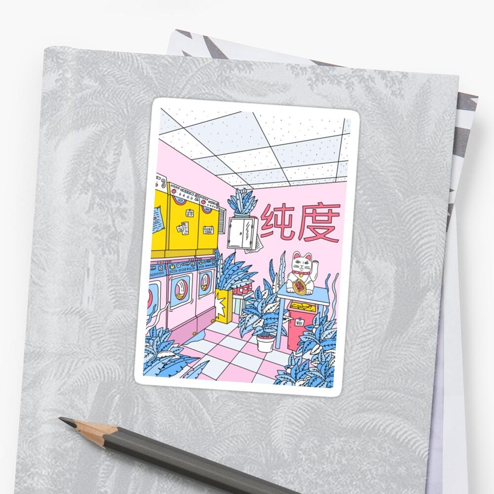 MANEKI WASH BLUE Sticker