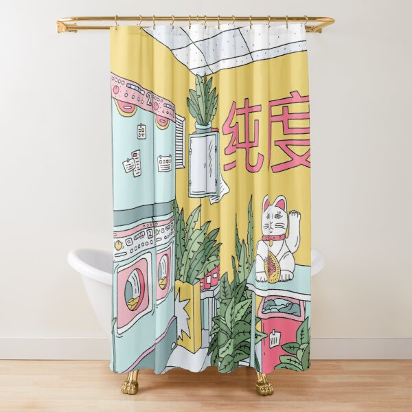 MANEKI WASH GREEN Shower Curtain