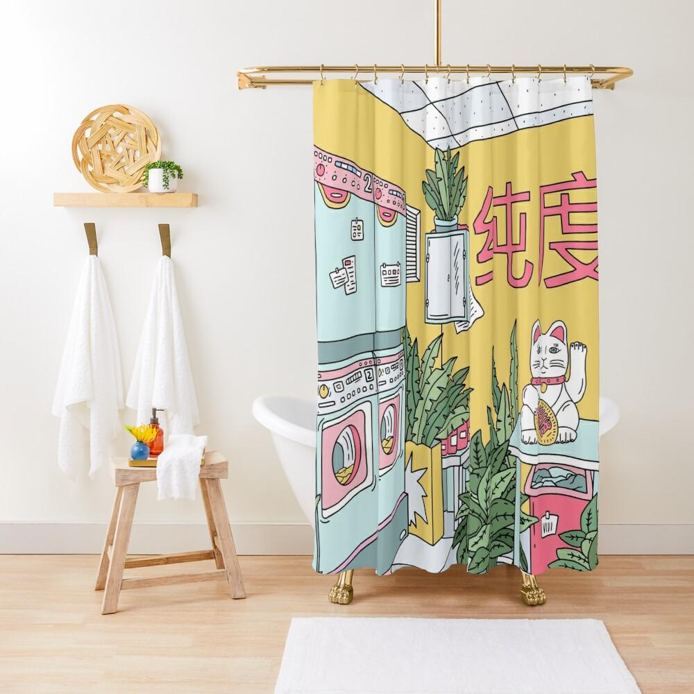 MANEKI WASH GREEN Shower Curtain