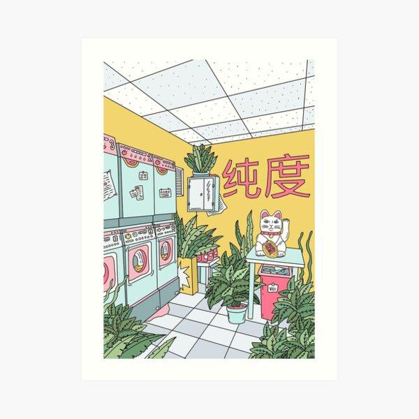 MANEKI WASH GREEN Art Print