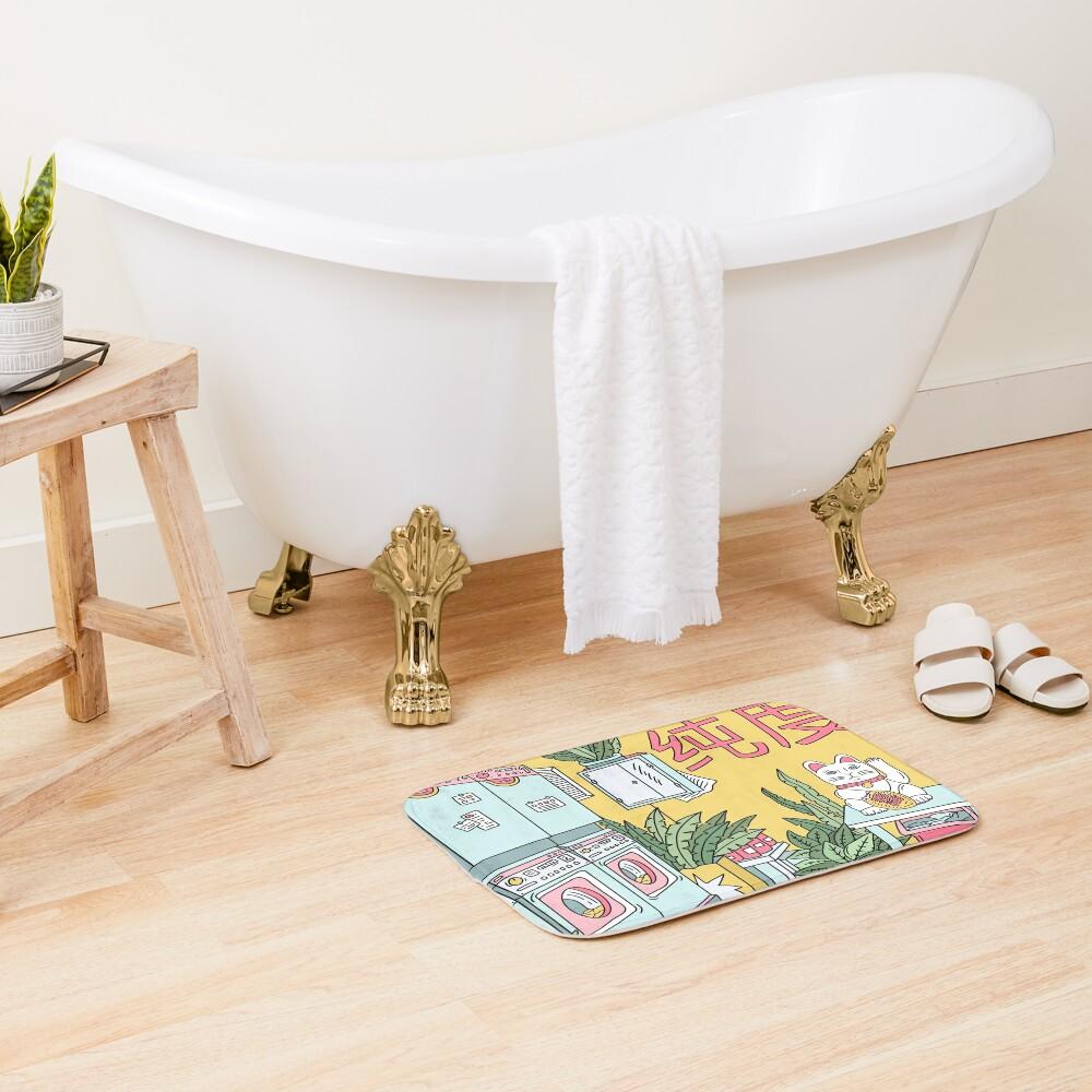 MANEKI WASH GREEN Bath Mat