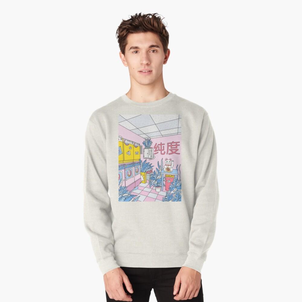 MANEKI WASH BLUE Pullover Sweatshirt
