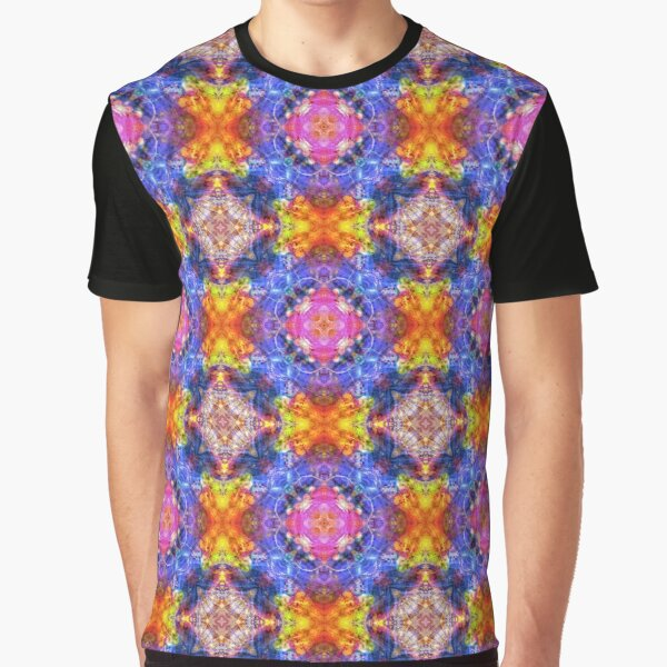 abstract blob art colorful seamless repeat pattern Graphic T-Shirt