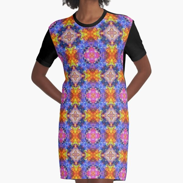 abstract blob art colorful seamless repeat pattern Graphic T-Shirt Dress
