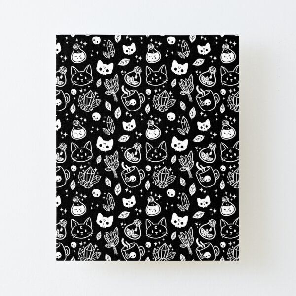 Herb Witch // Black & White Canvas Mounted Print