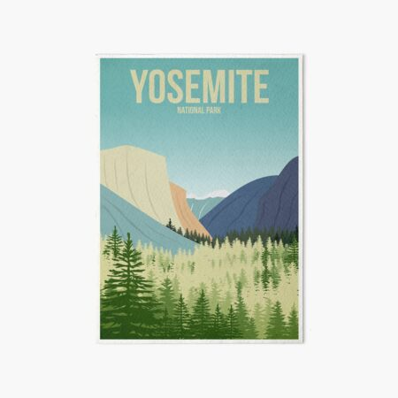 Yosemite National Park Art Board Print