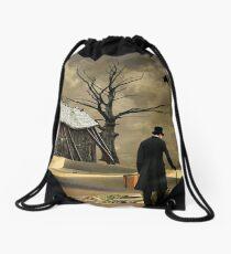 Traveling Alone... Drawstring Bag