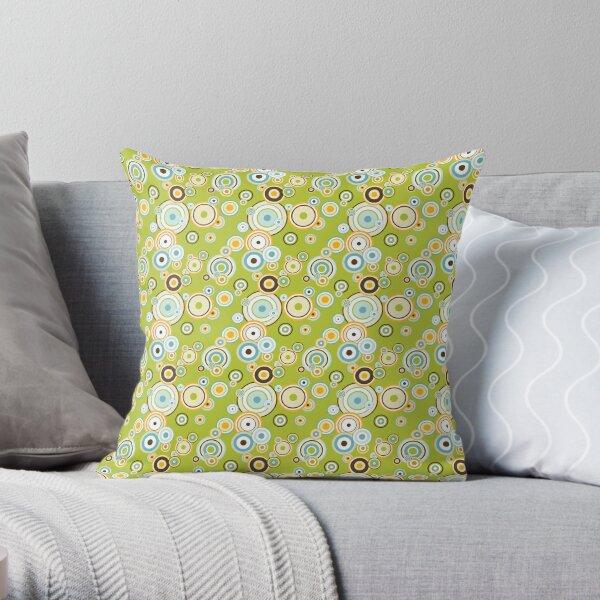 Modern art with concentric circles Throw Pillow